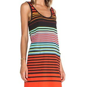 MARC JACOB paradise stripe jersey tank dress multi